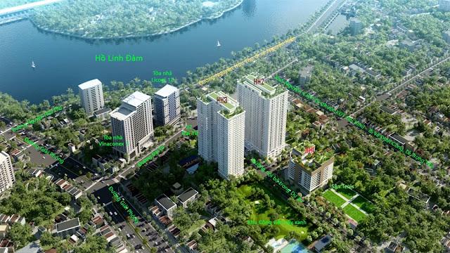 Eco Lake View có tầm view đẹp ra hồ Linh Đàm