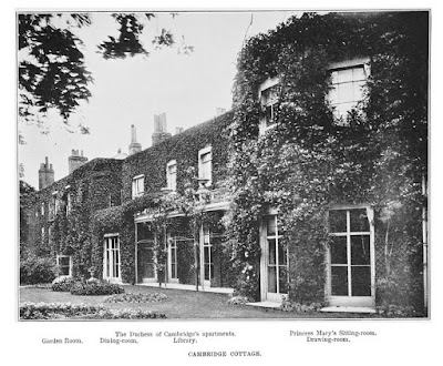 Cambridge Cottage from A Memoir of Princess Mary Adelaide of Teck by Sir Clement Kinloch-Cooke (1900)
