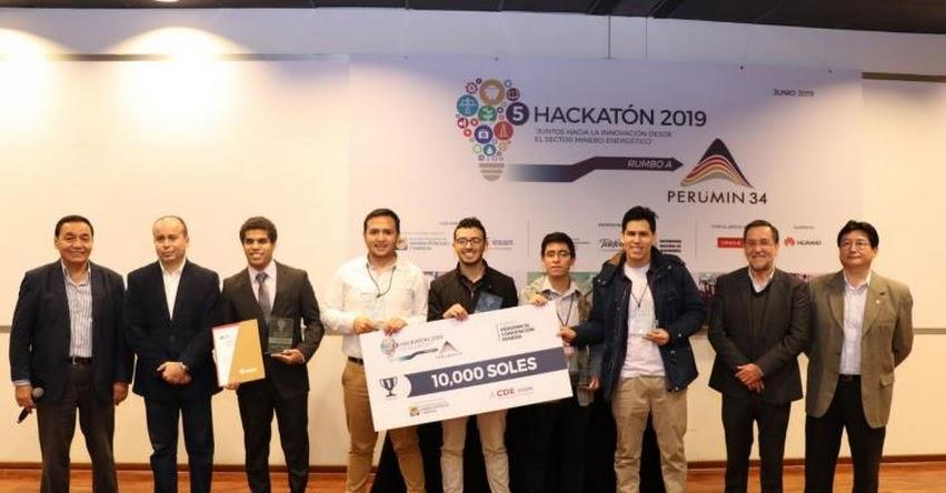 Universitarios ganan S/ 10,000 por primer puesto en hackatón del sector minero