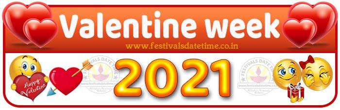 2021 Valentine Week List Calendar, 2021 Valentine Day All Dates & Day