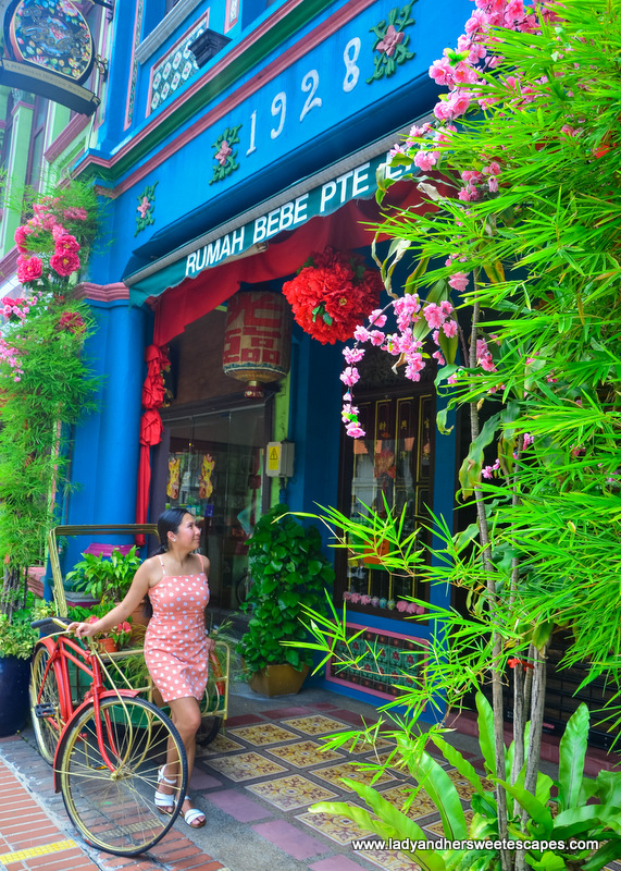 quaint Peranakan shophouse dated back to 1928