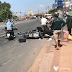 Bình Dương: Xe khách vượt đèn đỏ tông hàng loạt xe máy gây tai nạn nghiêm trọng