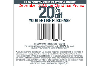 Ulta coupons for december 2016