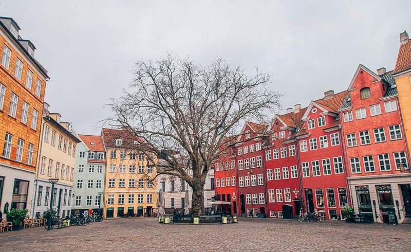 Winter in Copenhagen, Denmark's capital,
