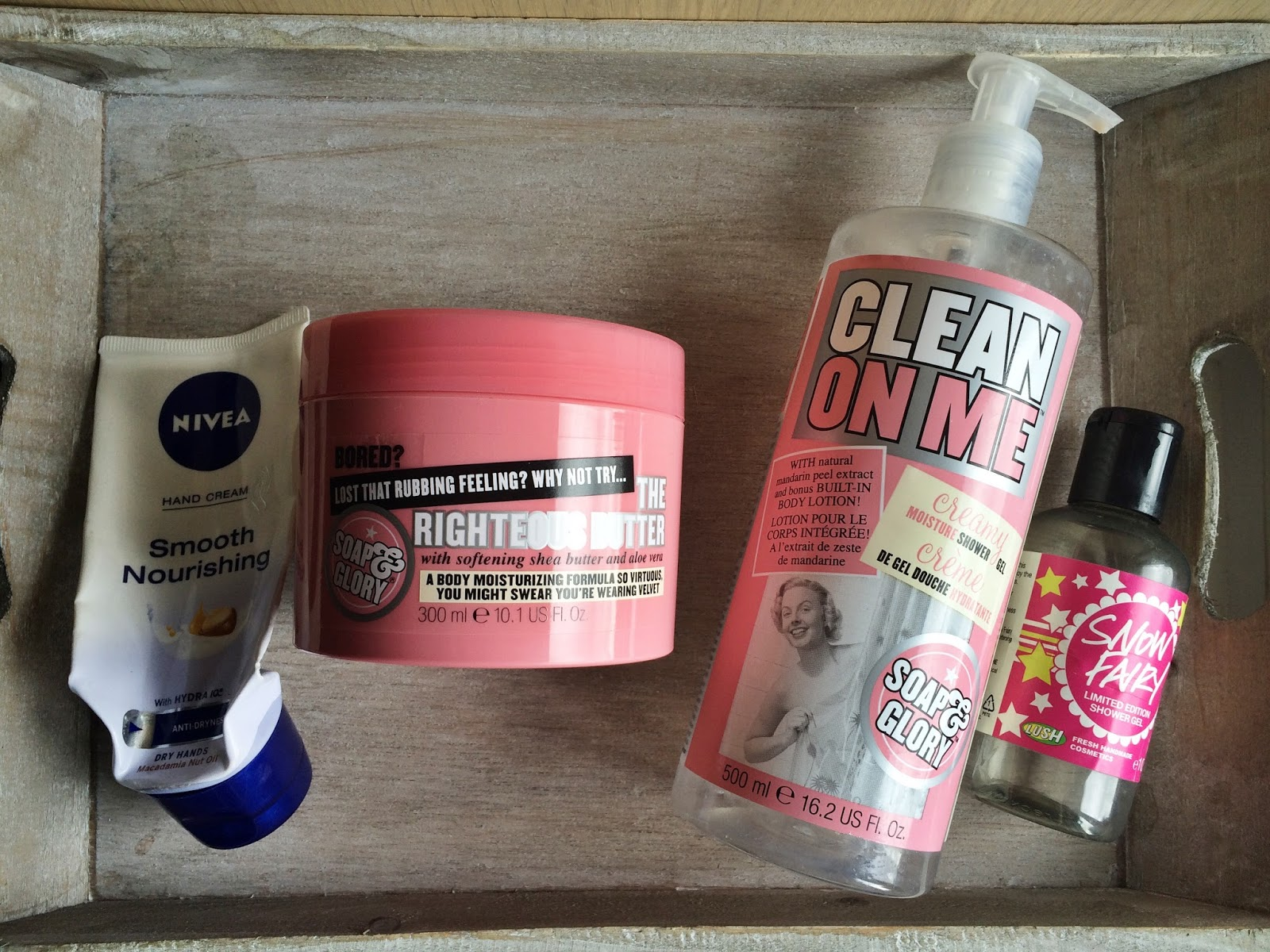 bodycare reviews soap and glory nivea lush