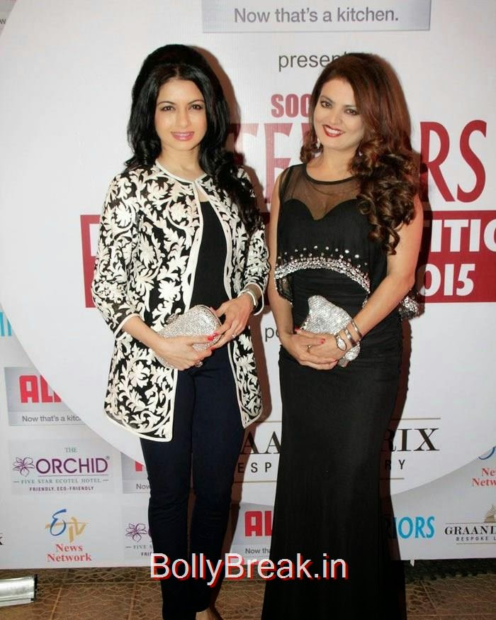 Bhagyashree Patwardhan, Sheeba, Sana Khan, Amrita Rao hot Images At Society Interiors Design Competition & Awards 2015