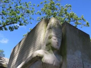 Pere Lachaise - Oscar Wilde's tomb, Paris.