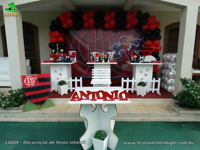 Decoração de festa Flamengo para aniversário - Festa na Barra - Rio de Janeiro(RJ)
