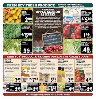 Farm Boy Flyer September 21 – 27, 2017