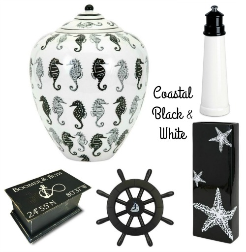 Coastal Black and White Decor Accessories