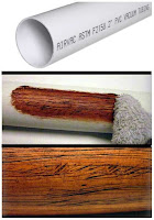how to make pvc plastic pipe look like wood