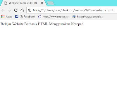 Cara Membuat Website Berbasis HTML Menggunakan Notepad