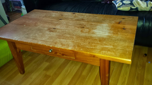 Salontafeltje opgeknapt! Coffe table up-cycled!