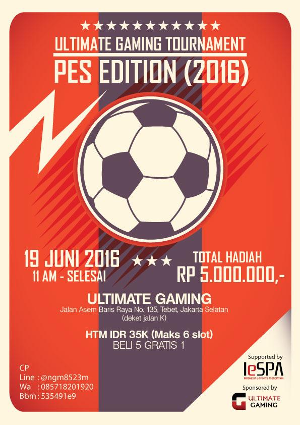 Kompetisi PES 2016 di Jakarta Juni 2016