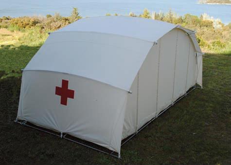 Tienda de emergencias Cruz Roja Ctents