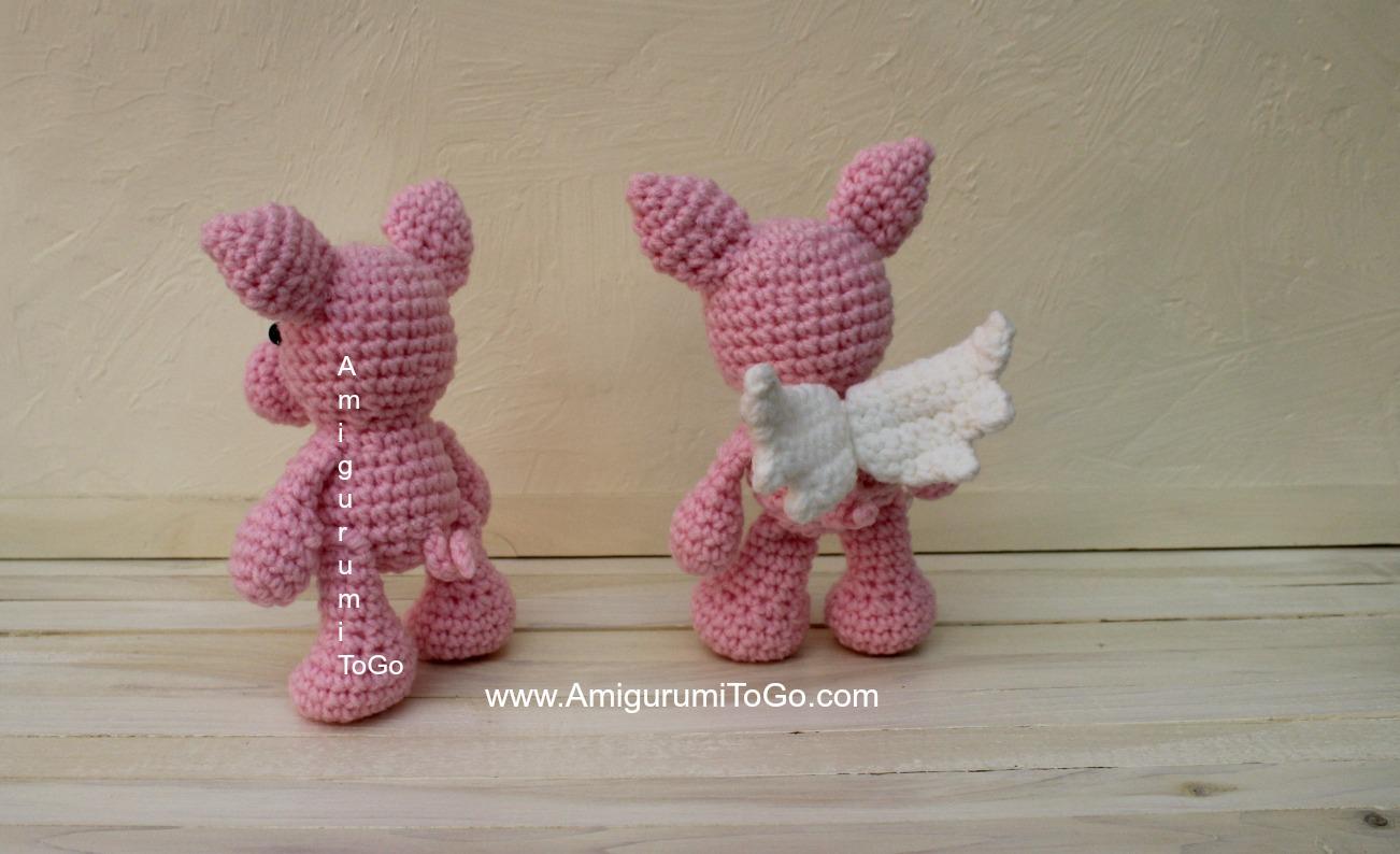 Flying Angel Pig Amigurumi Crochet Pattern : When Pigs Fly ~ Amigurumi To Go