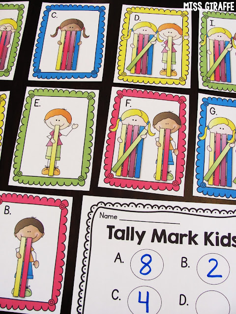 Tally marks centers and activities to teach counting tallies