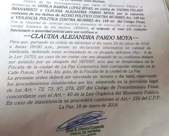 Pardo es acusada por la ministra de Comunicación por acoso político / RRSS