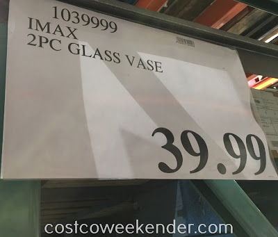 Deal for the Imax 2-piece Glass Vase Set at Costco
