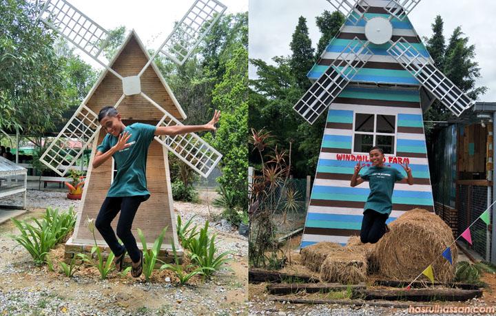 Aksi Bergambar menarik di Windmill PD Farm - Tempat percutian baharu di Port Dickson