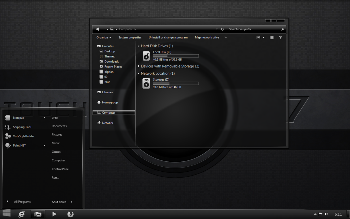 Flaming Themes Best Theme For Windows Gray Scale Theme For Windows 7