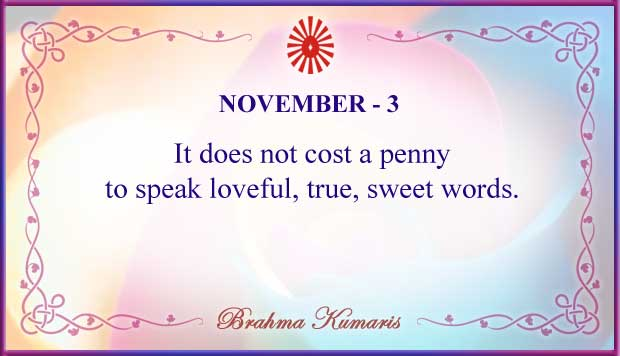 Thought For The Day November 3