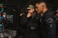 Will Smith and David Ayer on the set of Bright (2017) (5)