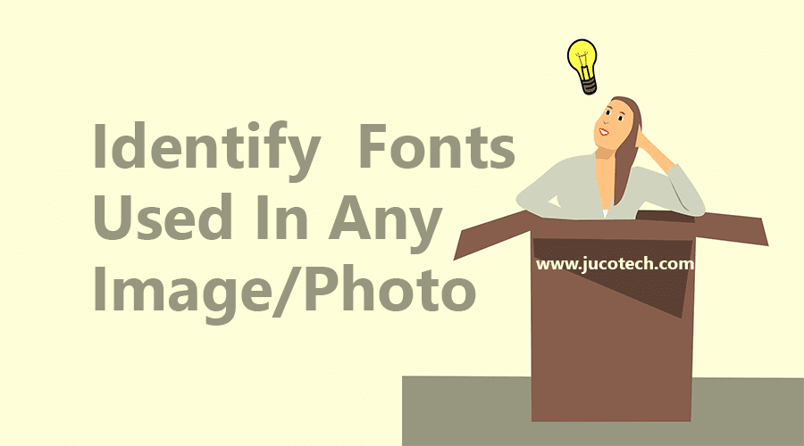 identify fonts in any image
