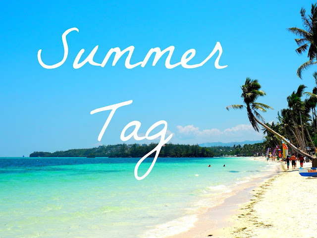 """Summer Tag"" text on a beach backdrop, from Boracay, Philippines"