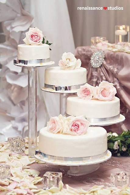 separate wedding cakes on stands simply beautiful weddings cake anyone non traditional 19751