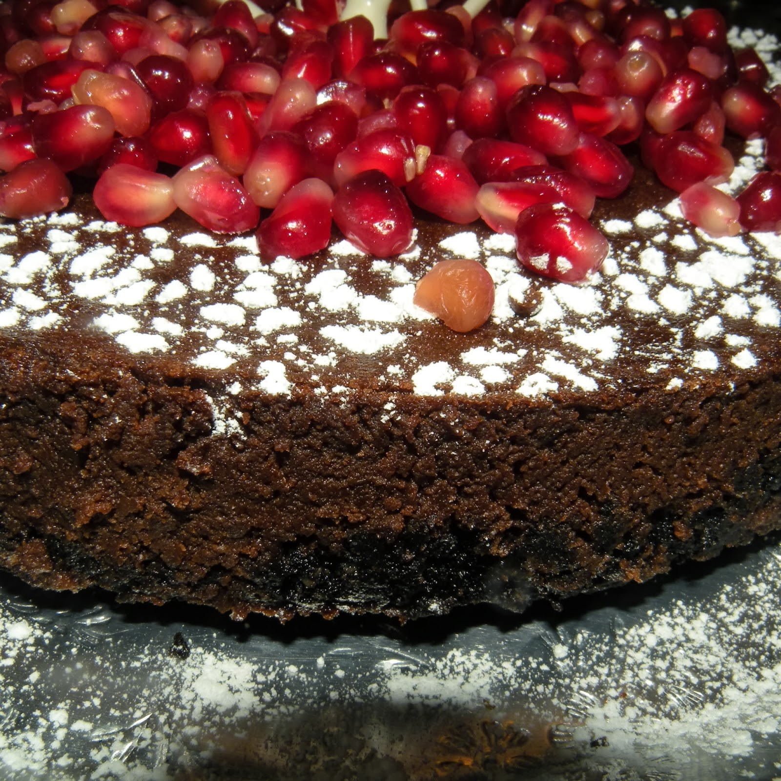 Winged Musings: Chocolate Pomegranate Torte