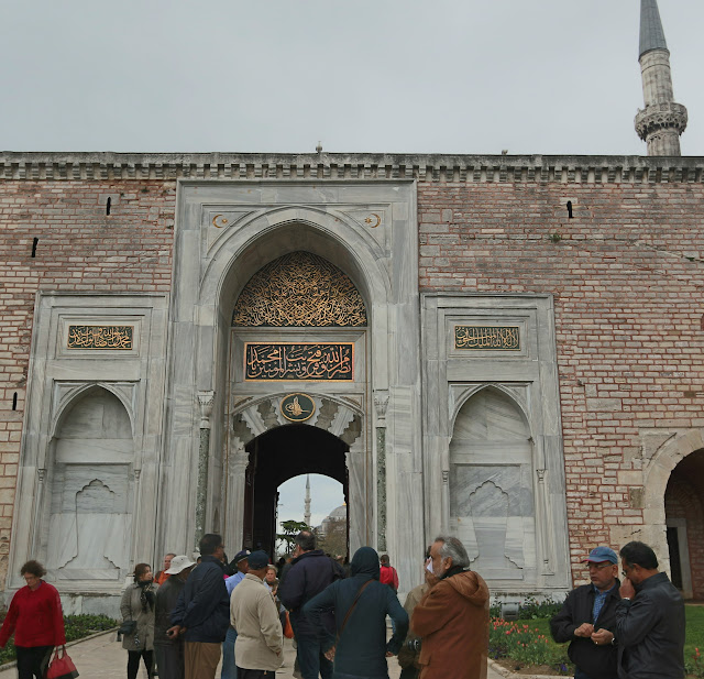 Topkapi Palace is crowded with visitors every day as it is one of the main attaraction area in Istanbul, Turkey