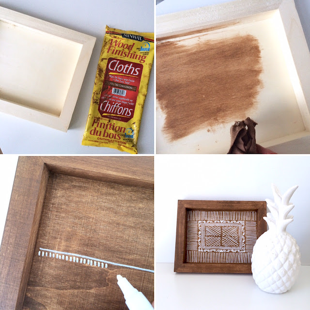 DIY Wooden Aztec Tray Anthropologie Inspired - Harlow and Thistle - 10