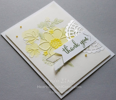 Heart's Delight Cards, Love What You Do, Thank You Card, Stampin' Up!, Watercolor