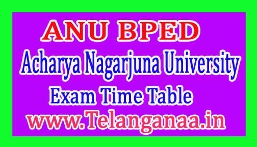 ANU BPED 1st Semester Exam Time Table 2017