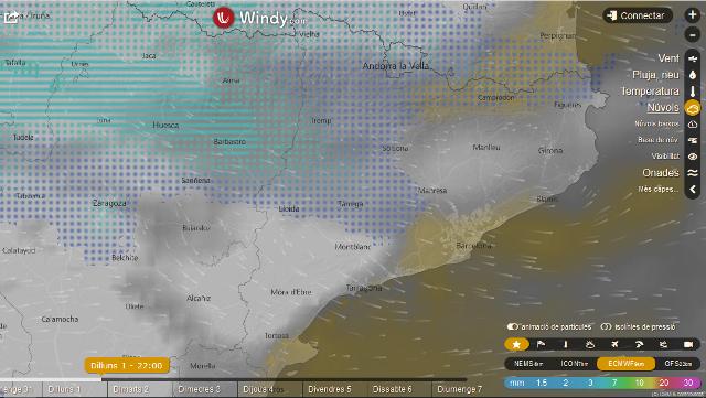 Previsió del cel nocturn pel 1er de gener de 2018