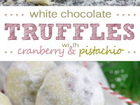 Cranberry Pistachio White Chocolate Truffles