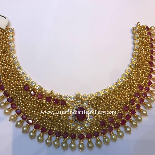 Micro Gold Beads Necklace
