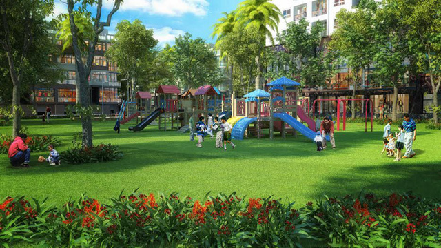 Không gian xanh và vui chơi cho trẻ em tại Louis City