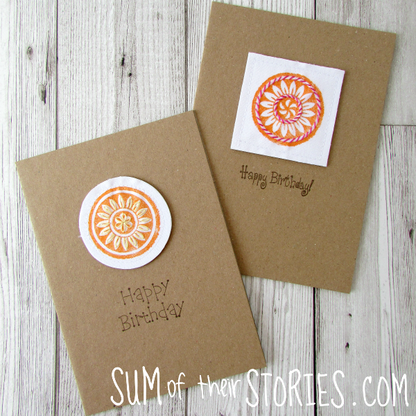 Block Craft Printed Cards