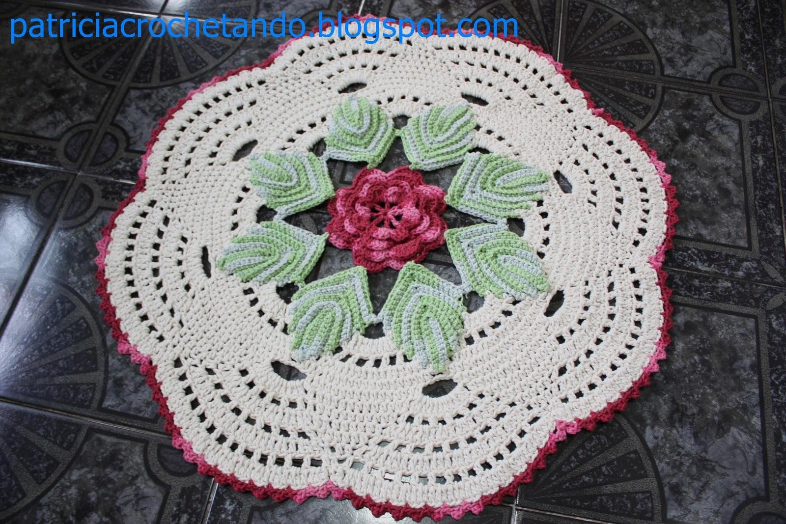 Tapetes a crochet redondos