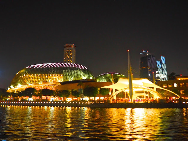 Esplanade with durian fruit stadiums, Singapore