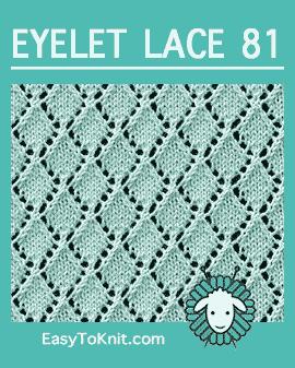 #Knit Eyelet Lace Pattern 81