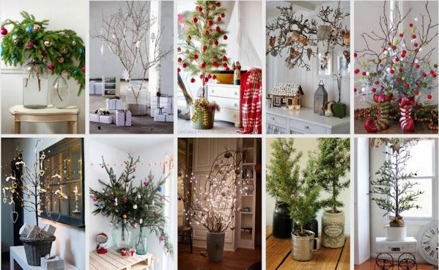 25+ Χριστουγεννιάτικες Ιδέες με φυσικά Κλαδιά αντί για δέντρο