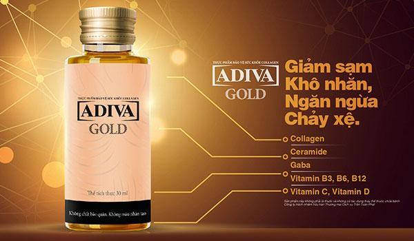 Collagen Gold Adiva giúp làn da chảy xệ đẹp hơn