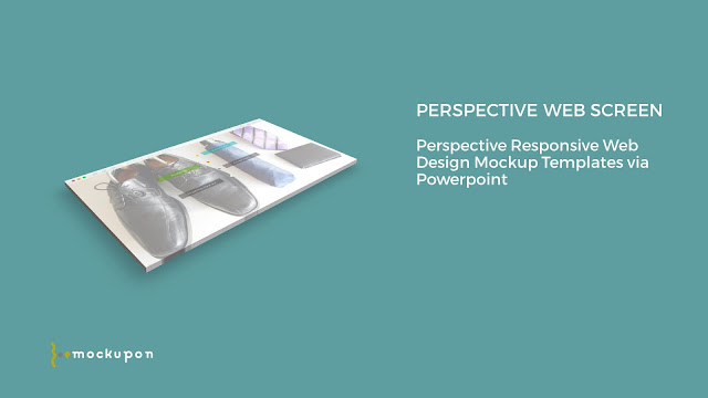 Powerpoint Web UI Screen Mockup Templates to the bottom