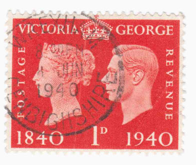 Terence S Collections An English 2 Pence Stamp Showing Portrait Of Queen Victoria And King