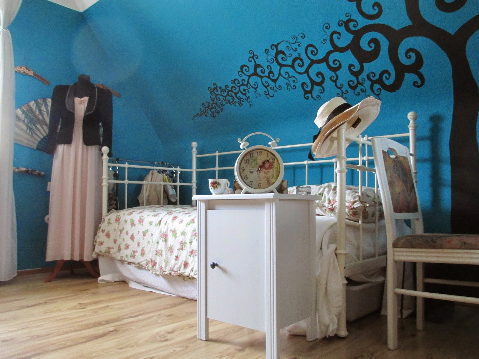 Strangeness And Charms ROOM TOUR A Black And White Vintage Style Bedroom