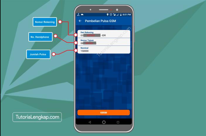 Tutorialengkap 5 Cara Membeli Pulsa Online Melalui BRI Mobile Banking di hape Android