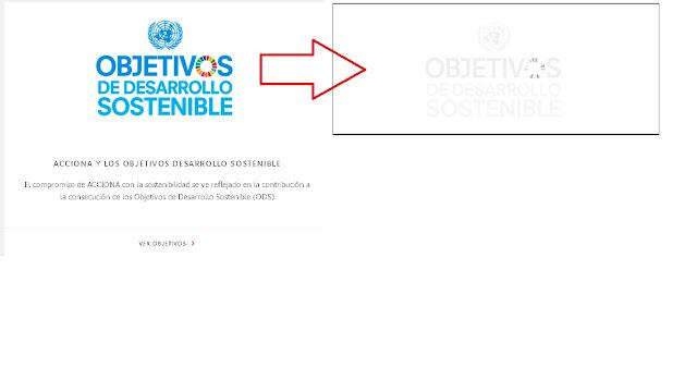 Logo de objetivos de desarrollo sostenible de Acciona invisible con escala de grises